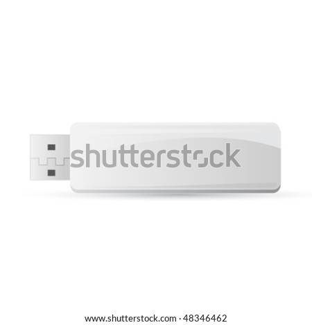 vector flash drive - stock vector