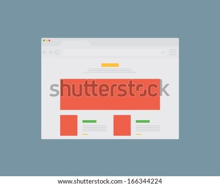 vector flat browser design - stock vector