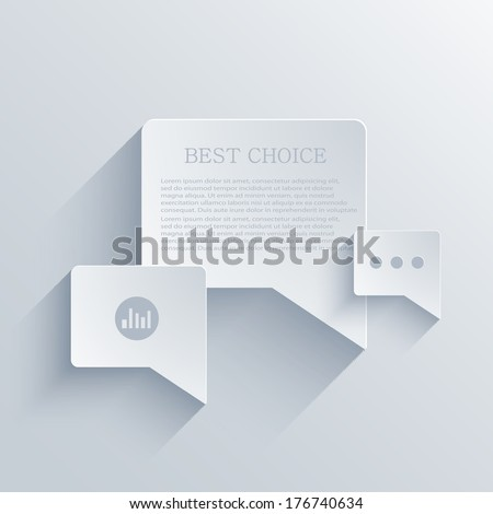 vector flat bubble speech background. Eps 10 - stock vector