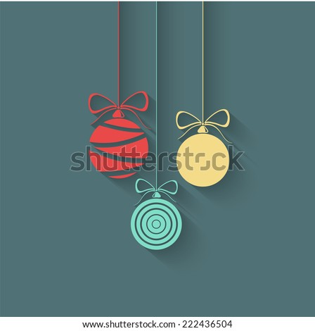 Vector Flat Christmas Balls - stock vector