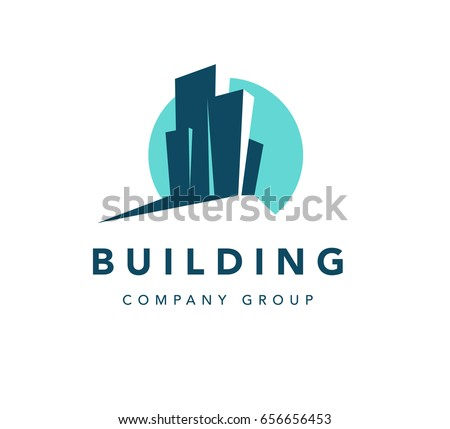 Architect Company vector flat construction company brand design stock vector