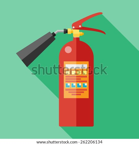 Vector flat fire extinguisher icon. Eps10 - stock vector
