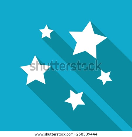 Vector flat flat stars icon isolated on blue. Eps10  - stock vector