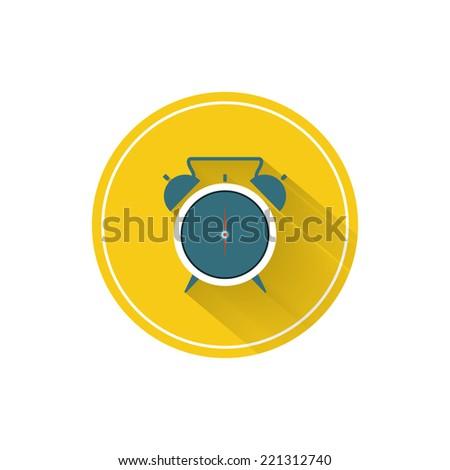 Vector Flat Icon.Alarm Clock - stock vector