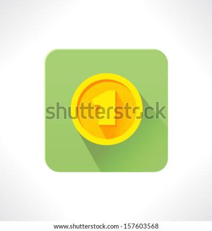 Vector flat icon. Coin. - stock vector