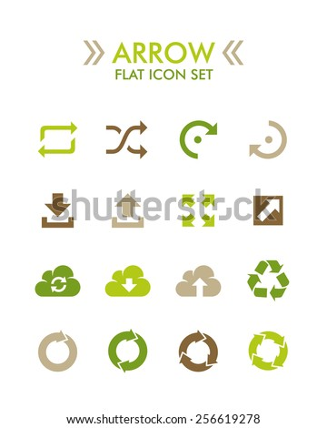 Vector Flat Icon Set - Arrow - stock vector