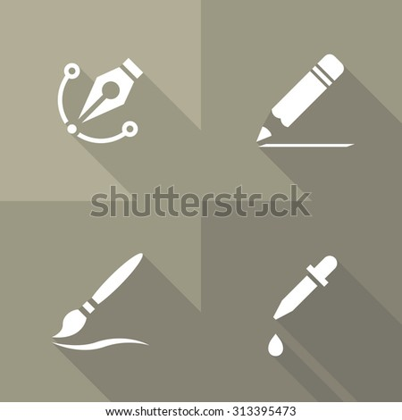 Vector Flat Icons - Drawing