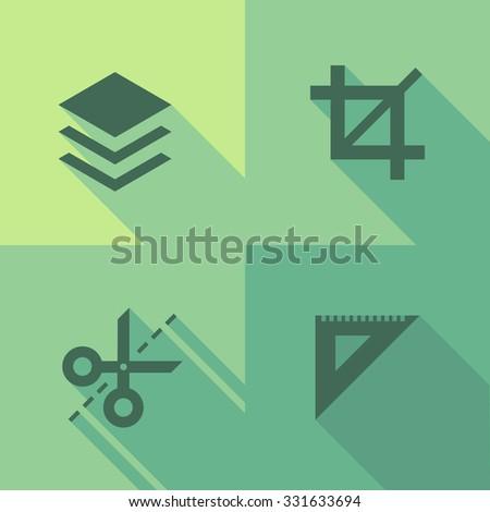Vector Flat Icons - Edit - stock vector