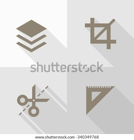 Vector Flat Icons - Edit