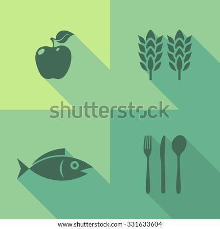 Vector Flat Icons - Food - stock vector