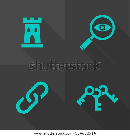 Vector Flat Icons - Objects  - stock vector