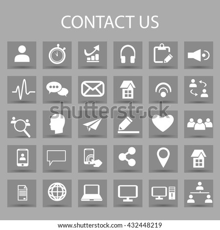 Vector Flat Icons Set Graphic Design Stock Vector 432448219