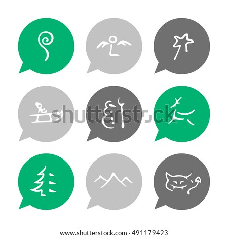Vector Flat Icons Set - Christmas icons