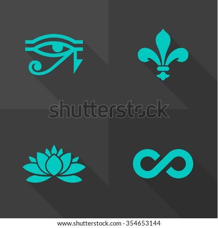 Vector Flat Icons - Symbols  - stock vector