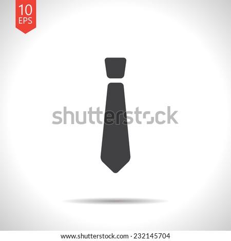Vector flat isolate gray tie icon. Eps10 - stock vector