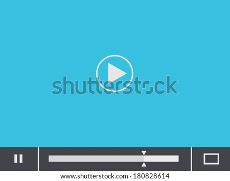Vector flat player blue background. Eps 10 - stock vector