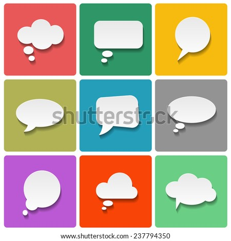 Vector flat speech bubbles