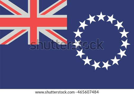 vector flat style cook islands state flag official design of cook islands national flag - Cook Island Designs