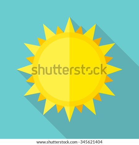 Vector flat sun icon - stock vector