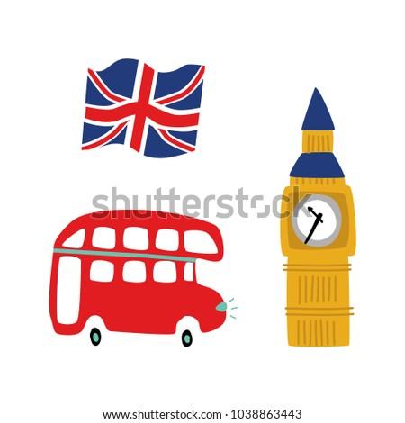 Vector Flat United Kingdom Great Britain Vector de stock1038863443 ...