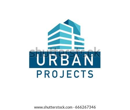 Vector flat urban construction company logo stock vector for Design build companies