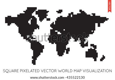 Vector flat world map info graphic stock vector 2018 435522130 vector flat world map info graphic map of the world gumiabroncs Images