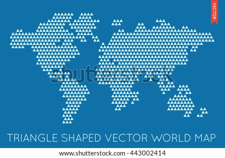 Vector Flat World Map Infographic. Map of the World. - stock vector