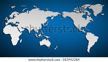Pacific ocean stock images royalty free images vectors vector flat world map with pacific ocean planet earth background all the continents of gumiabroncs Images
