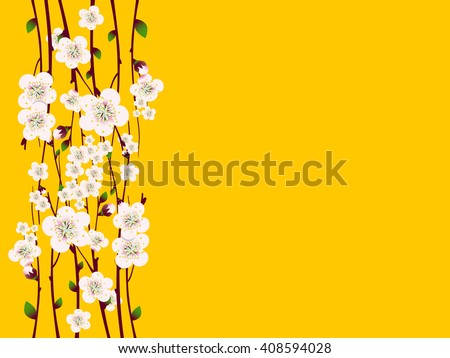 Vector floral background, card or invitation template