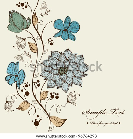 Vector floral background design - stock vector