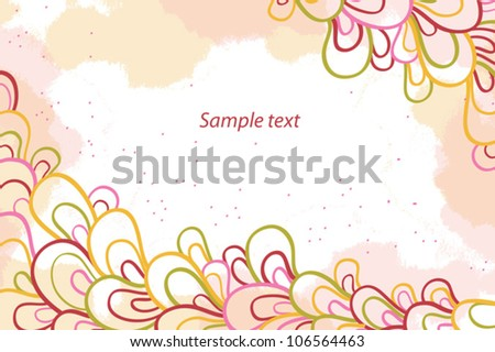 Vector floral background for card or invitation.