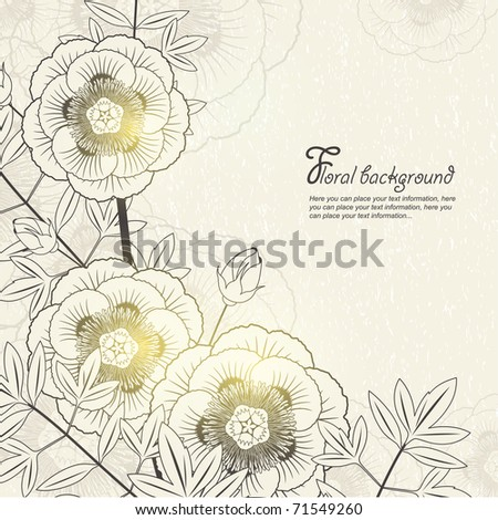 Vector Floral background for design - stock vector