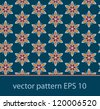 vector floral background seamless pattern - stock vector
