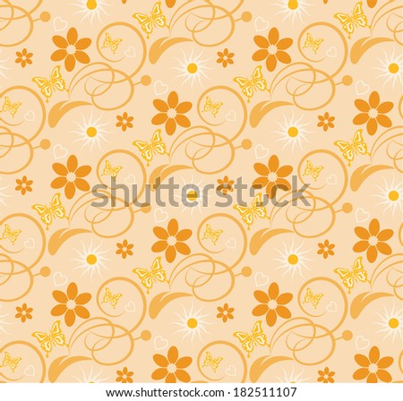 vector floral background seamless pattern wallpaper