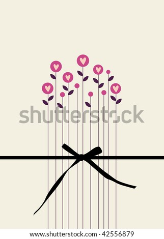 vector floral card design - stock vector
