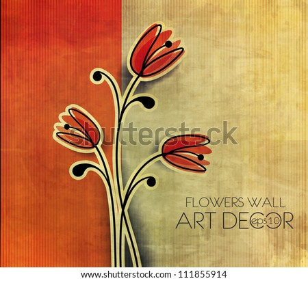 vector floral design element background. - stock vector
