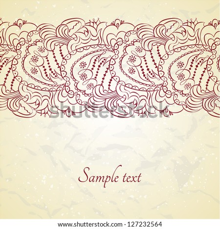 Vector floral design template card