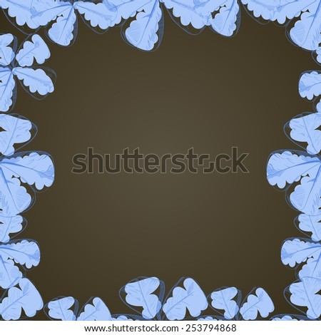 Vector floral hand-drawing frame
