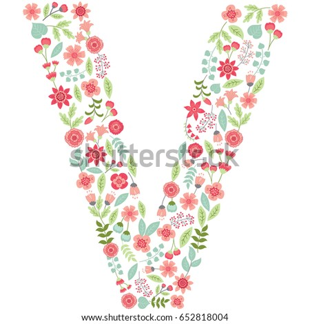 Letter v made of flowers stock images royalty free images vector floral letter v the capital letter v is made of floral elements pastel altavistaventures Choice Image