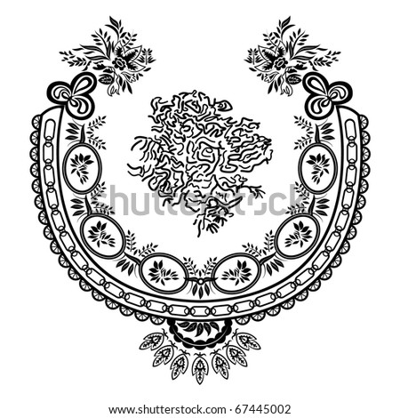 vector floral material on white background.