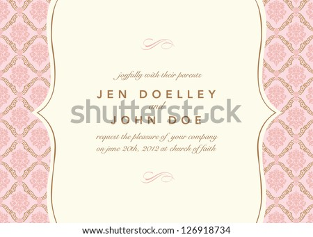 Vector Floral Pattern and Frame. Easy to edit. Perfect for invitations or announcements. - stock vector
