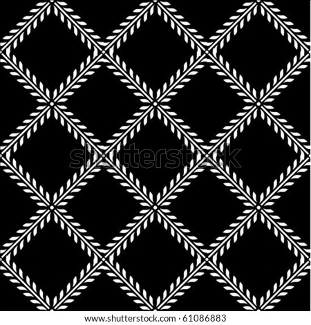 Vector floral pattern. Perfect for invitations and ornate backgrounds.  Pattern is included as seamless swatch. - stock vector