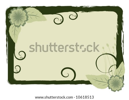 Vector Floral Picture Frame