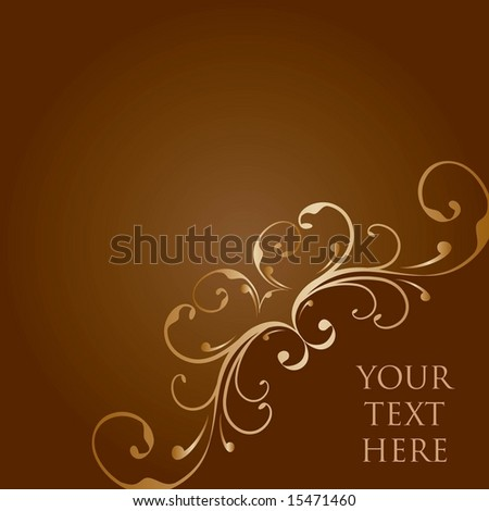 Vector floral template / report cover - stock vector