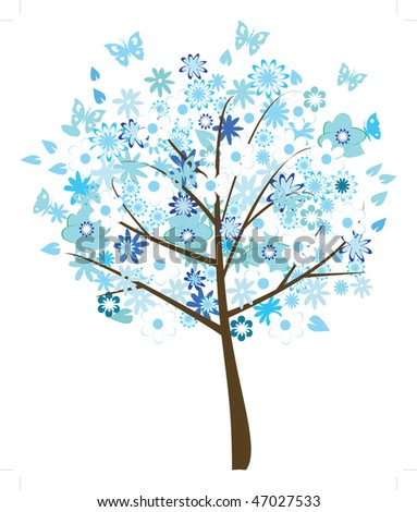 vector floral tree