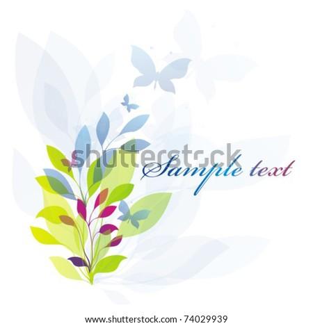 Vector flores background - stock vector