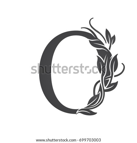 Vector Flourish Black Letter O Logo