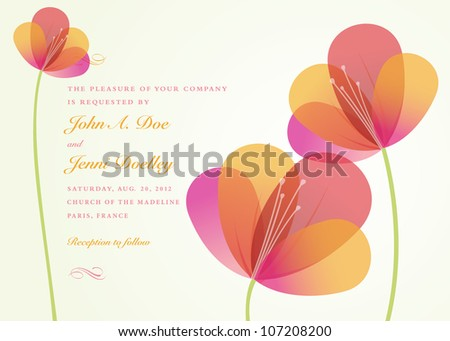 Vector Flower Background. Easy to edit. All pieces are separated. - stock vector