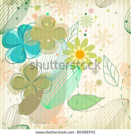 Vector flower background (eps 10)
