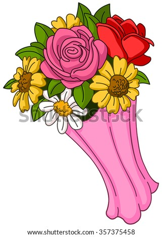 Vector flower bouquet - stock vector